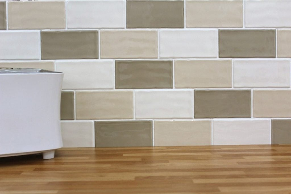 Cream Gloss Kitchen Tile Ideas Part - 48: Contemporary Kitchen And Bathroom Wall Tiles
