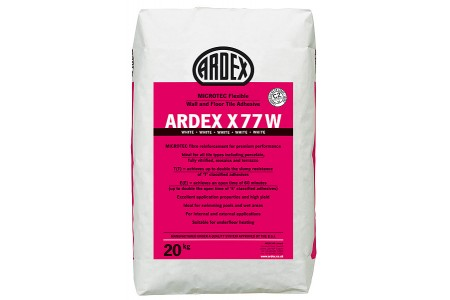 ARDEX X77 Microtec Reinforced White wall And Floor Adhesive
