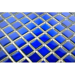 Glazed Ceramic Cobalt Blue Mosaic