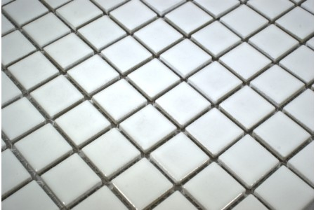 Glazed Ceramic Gloss White Mosaic