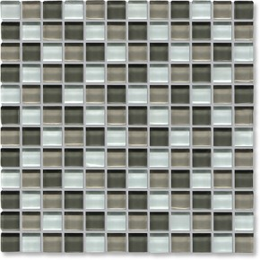 Crystal Glass Grey Mix Gloss Mosaic