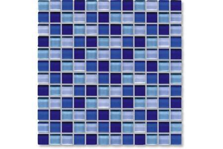 Crystal Glass Blue Mix Gloss Mosaic