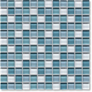 Crystal Glass Aqua Mix Gloss Mosaic