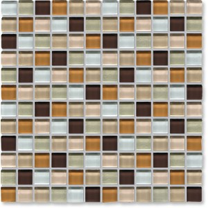 Crystal Glass Beige Mix Gloss Mosaic