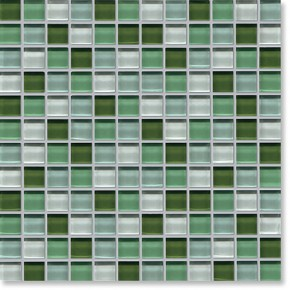 Crystal Glass Green Mix Gloss Mosaic
