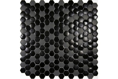Texturas Luna Hexagonal Textured Glass Mosaic