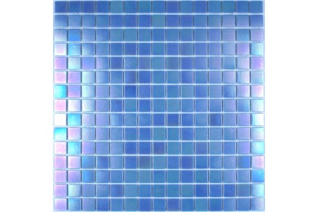Iridium Iridescent Glass Mosaic Sky Blue