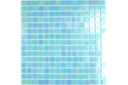 Iridium Iridescent Glass Mosaic Aqua