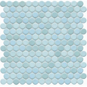 Jasba Loop Light Aqua Circular Mosaic