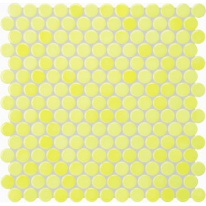 Jasba Loop Lemon Yellow Circular Mosaic