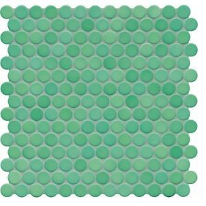 Jasba Loop Sea Green Anti Slip Circular Mosaic