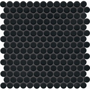 Jasba Loop Night Black Anti Slip Circular Mosaic