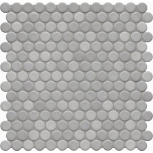 Jasba Loop Light Diamond Grey Anti Slip Circular Mosaic